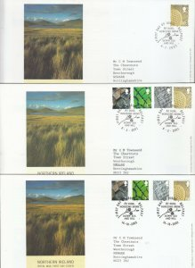 2001-2005 NORTHERN IRELAND ONE COUNTRY DEFINITIVE FIRST DAY COVERS X5