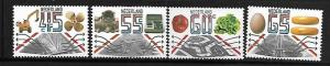 NETHERLANDS, 616-619, MNH, EXCAVATOR AND SHIP'S SCREW