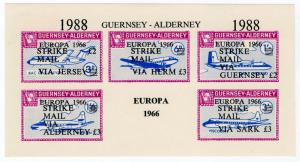 (I.B) Guernsey Cinderella : Alderney Strike Mail Overprint (Commodore Shipping)