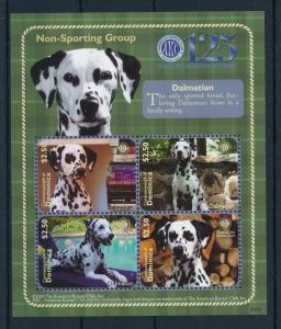 [29848] Dominica 2010 Animals Dogs Dalmatian American Kennel Club MNH  S/S