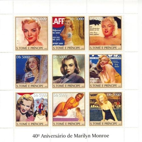 2003 St Thomas & Prince Marilyn Monroe Magazine Covers MNH