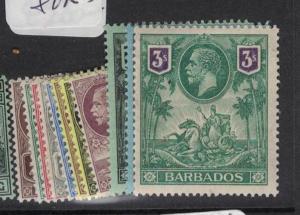 Barbados SG 170-80 MOG (2dsh)