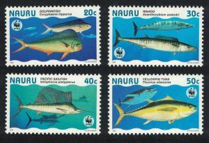 Nauru WWF Giant Fish 4v SG#458-461 MI#437-440 SC#443 a-d