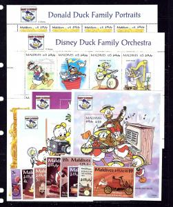 Maldives 2051-64 MNH 1995 Donald Duck complete set