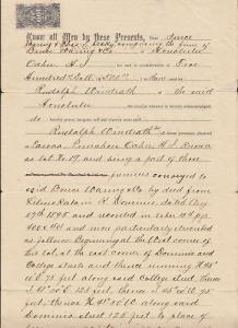 Hawaii Sc R3 on 1896 Warranty Deed, Magenta cancel, 2 signatures