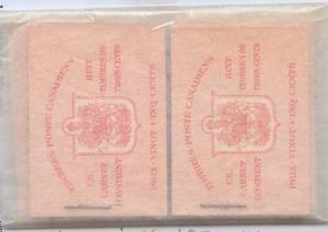 Canada - 1942 3c Carmine Booklets X 4 Diff. inc Variety