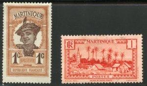 Martinique Scott 62 & 133 - Unused VFLH - SCV $0.50