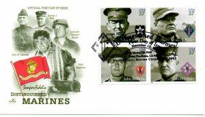 US FDC #3961-3964 Distinguished Marines, ArtCraft (0917)