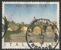 Italy Used Sc # 1177 - Angels Bridge, Rome