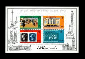 ANGUILLA - 1979 - LONDON '80 - PENNY BLACK - EARLS COURT - MINT - MNH S/SHEET!