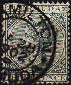 Bermuda. 1865 1/2d  S.G.21a  Fine Used