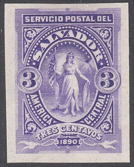 SALVADOR 1890 3c imperf proof..............................................G713