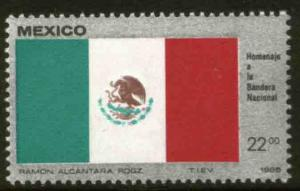 MEXICO 1376, National Flag MINT, NEVER HINGED. F-VF.