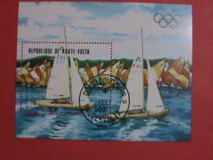 UPPER VOLTA STAMP: 1983  OLYMPIC GAMES: YACHTS SAIL CTO S/S SHEET HARD TO FIND