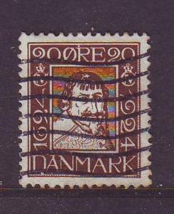 Denmark Sc  174 1924 20 o Christian IV stamp used