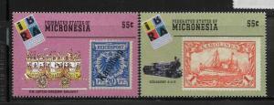 MICRONESIA,340-341,  MNH,WORLD STAMPS