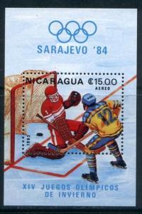 Nicaragua 1275 MNH Winter Olympics, Ice Hockey
