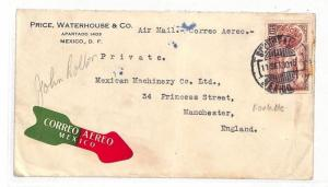 AT190 1930 Mexico Cover Manchester GB PTS