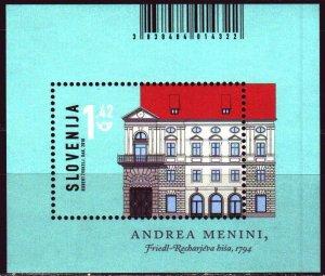 Slovenia. 2018. bl104. Slovenian architecture. MNH.