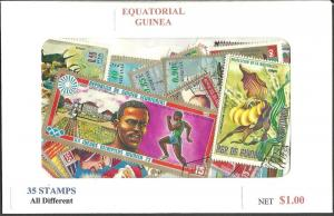 Equatorial Guinea Mix, 35 All Different, Used*-