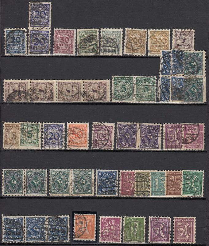 Germany - 1921/1923 Inflation small stamp lot-6 - (976)
