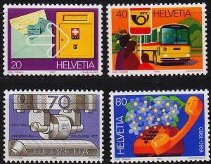SCHWEIZ SWITZERLAND [1980] MiNr 1180-83 ( **/mnh )