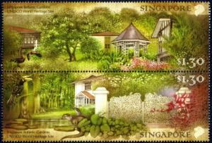 Singapore 2015 UNESCO World Heritage Site Botanic Gardens 2v fauna flora