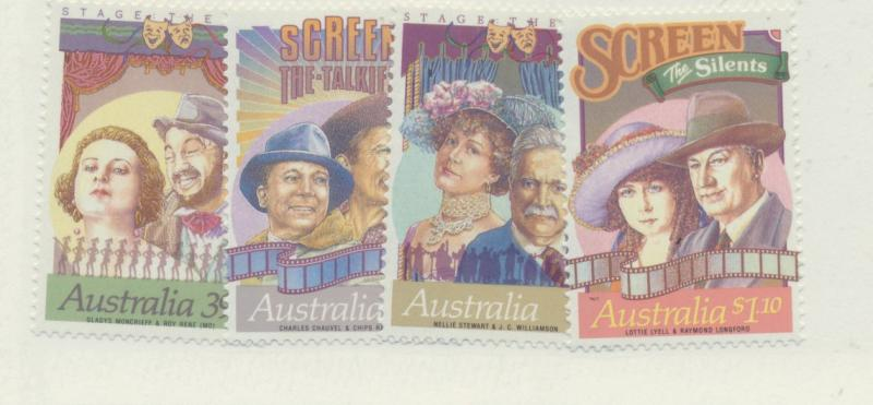 Australia Scott #1142 To 1145, Mint Never Hinged MNH, Stars of Stage and Scre...