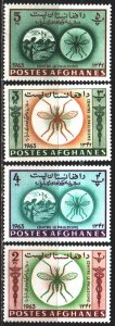 Afghanistan. 1964. 896a-99a from the series. Medicine, malaria control, mosqu...