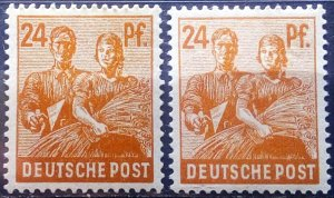 Germany Allied Occupation Mi 951 d+a **
