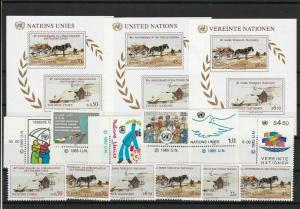 United Nations 1985 Mint Never Hinged Stamps  ref R 18286