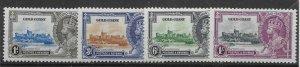 GOLD COAST SG113/6 1935 SILVER JUBILEE SET MNH