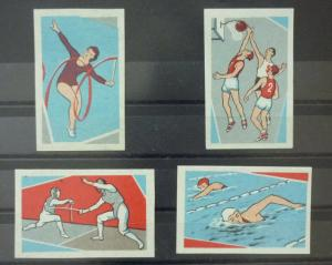 Match Box Labels ! sport athletics basketball crawling swimming GN95
