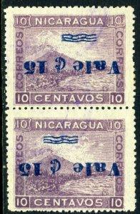 Nicaragua 1905  15¢/10¢ Momotombo Pair H446 ⭐⭐⭐⭐⭐