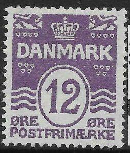 DENMARK SG184 1926 12o LILAC MTD MINT