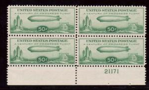 USA #C18 VF/NH Plate Block Of Four