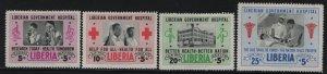 LIBERIA, B19, CB4-CB6, SET(4),  HINGED, 1954, RESEARCH