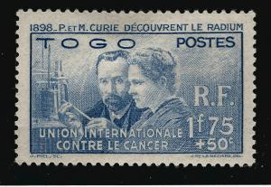 French Togo Madam Curie (Sc B1) VF Mint OG...Don't Overpay...!