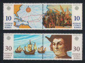 Cyprus 500th Anniversary of Discovery of America by Columbus 4v pairs SG#818-821