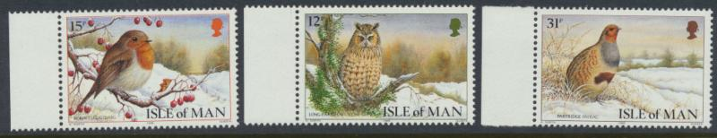 Isle of Man - SG 396-398  SC# 377-379  MUH Christmas Manx Birds
