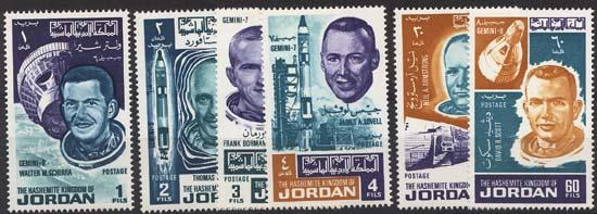 Jordan - 1966 Astronauts Set of Six Complete mint #532-532E
