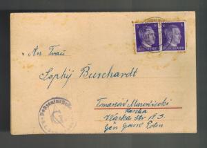 1943 Germany Oranienburg Concentration Camp Postcard Cover KZ Peter Burchardt