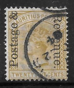 Mauritius 121: 25c Victoria overprint, used, F
