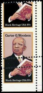 2073, Mint NH Misperfed Error 20¢ Carter Woodson Stamp W/Gutter - Stuart Katz