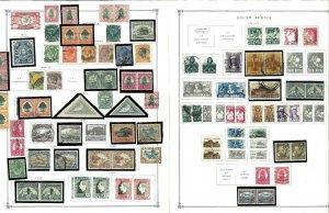 South Africa 1910-1993  M & U (mostly) Hibged on Scott International Pages