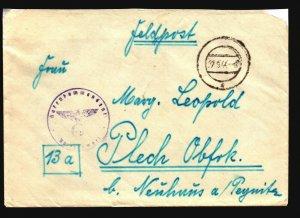 Italy 1944 German Feldpost w/ Letter - Z17635