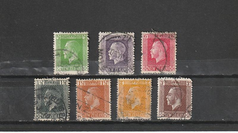 #144,151,154,160,162-64 New Zealand Used George V