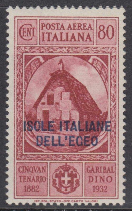 ITALY - EGEO - Garibaldi - Sassone A15 cv 330$ MNH**