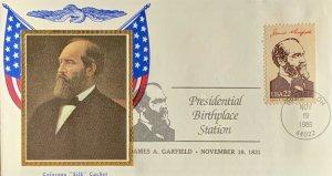Colorano Silk 2218 Presidential Birthplace Station James A. Garfield Orange Ohio
