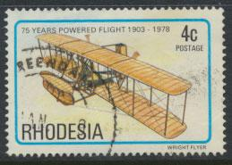Rhodesia   SG 570 SC# 408  Used Anniv of Powered Flight Aircraft see details